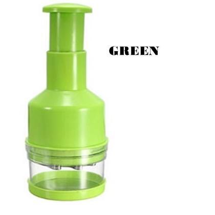 Hand Pressing Manual Vegetable Garlic Chopper Slicer (3 Color Options)
