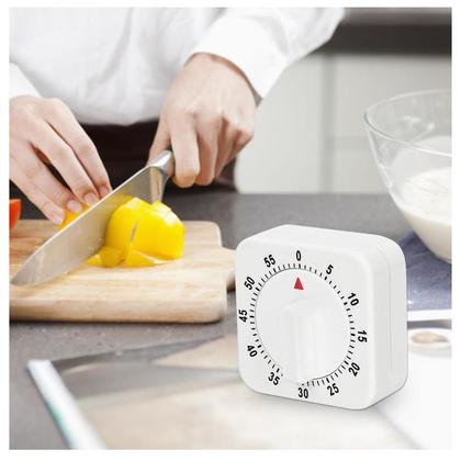 60 Minutes Kitchen Timer Countdown Alarm Reminder White Square