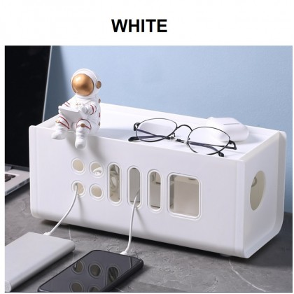 Plastic Cable Management Box Wire Cable Hide Box for Power Strips Cable Organizer Box