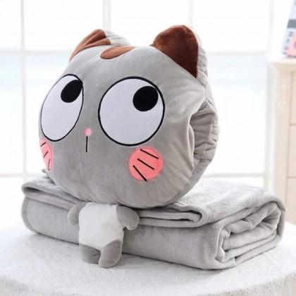 3 in 1 Cat Series Multipurpose Cushion Pillow Blanket