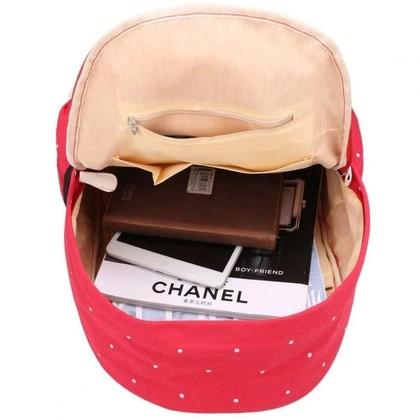 Japan Korean High Quality Polka Dot 3 in 1 Casual Backpack/ School Bag/ Travel Bag Canvas Bag